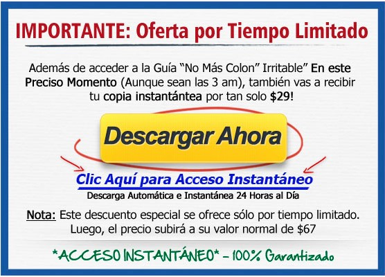 oferta no mas colon irritable